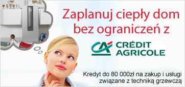 Credit Agricole - keredyt na pompy ciepła i instalacje